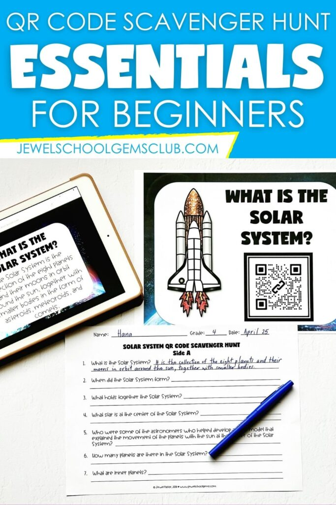 QR Code Scavenger Hunts by Jewel's School Gems Club