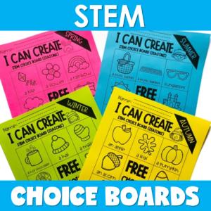 Top 4 Reasons to Love STEM Choice Boards by Jewel's School Gems Club